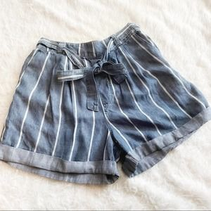 Universal Thread Blue Paper Bag Shorts Size S